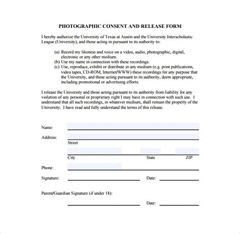 image release form    documents