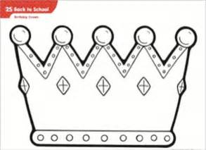 free printable princess crown template birthday crown template pictures to pin on