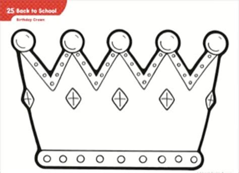 birthday crown template pictures to pin on pinterest
