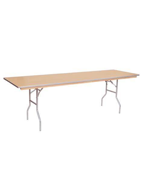 24 x 96 folding table 96 quot x 24 quot banquet wood folding table metal edging