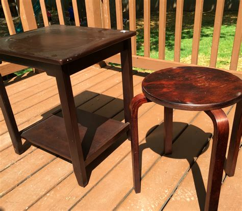 Garage Sale Tables by How To Upcycle Garage Sale Items Into Customized Furniture