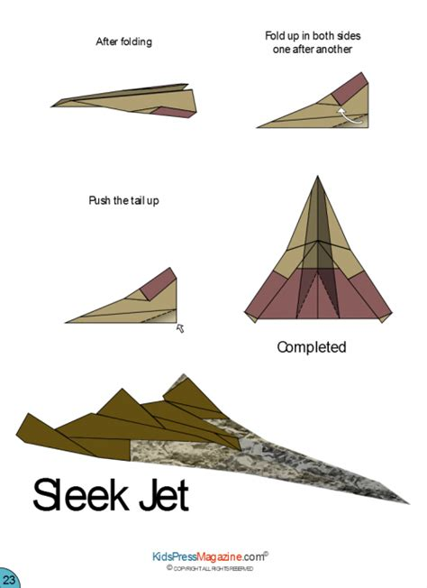 Origami Airplane Jet - paper airplane sleek jet advanced