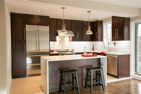 Cognac Kitchen Cabinets by Shaker Style Kitchen Cabinets Spaces Contemporary With