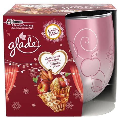 candele glade glade apple spice scented candle 1 pcs 163 1 95