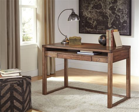 baybrin rustic brown home office small desk from