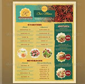 template menu restaurant 17 useful vintage restaurant menu templates psd