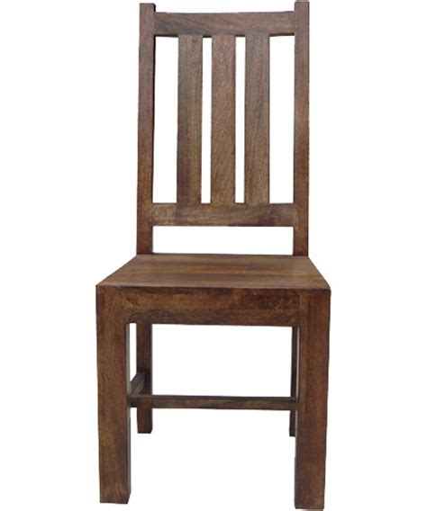 solid indian mango wood dining chair