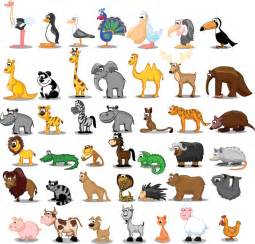 free cartoon animals vector files for download