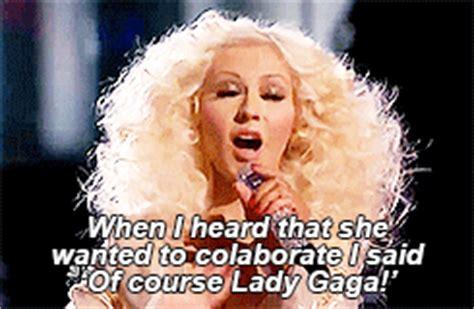 Christina Aguilera Meme - lady gaga my gif 1k edits christina aguilera lady gaga
