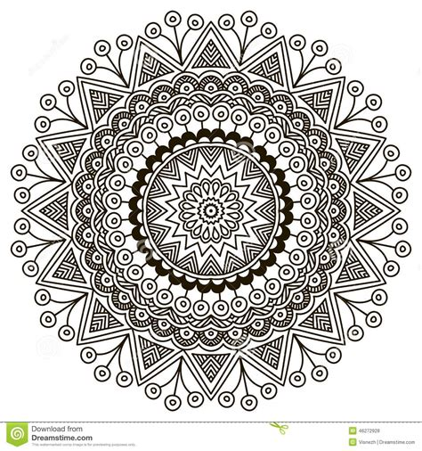 mandala round ornament pattern stock photo image 46272928