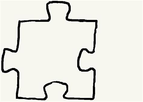 template for puzzle pieces single puzzle template