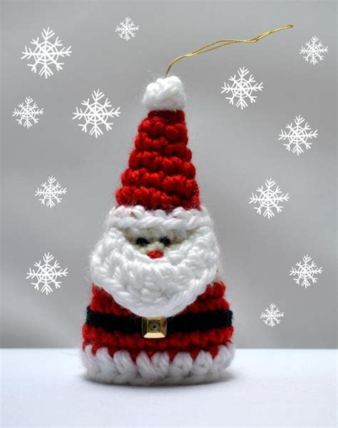 crochet ornaments 28 crochet yule decorations you can make in one evening books crochet santa ornament pattern by crochet arcade