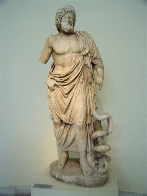 greek god statue commodus asclepius heals bull veterenarium medicine god