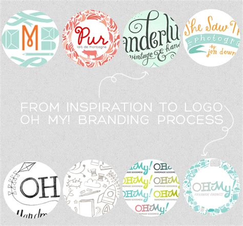 from inspiration to logo oh my branding oh my handmade