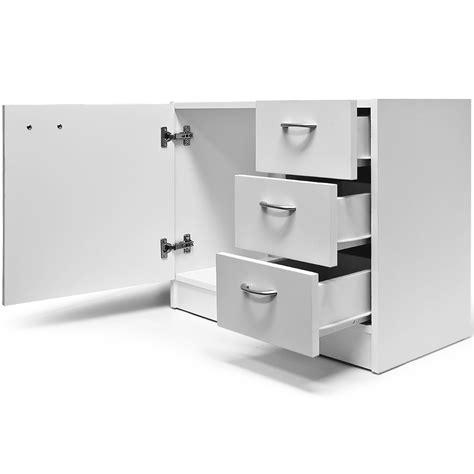 meuble avec beaucoup de tiroirs meuble salle de bain rangement dessous lavabo sdb avec 3