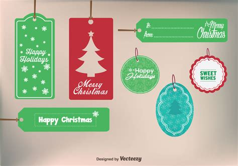 merry christmas gift labels   vectors clipart graphics vector art