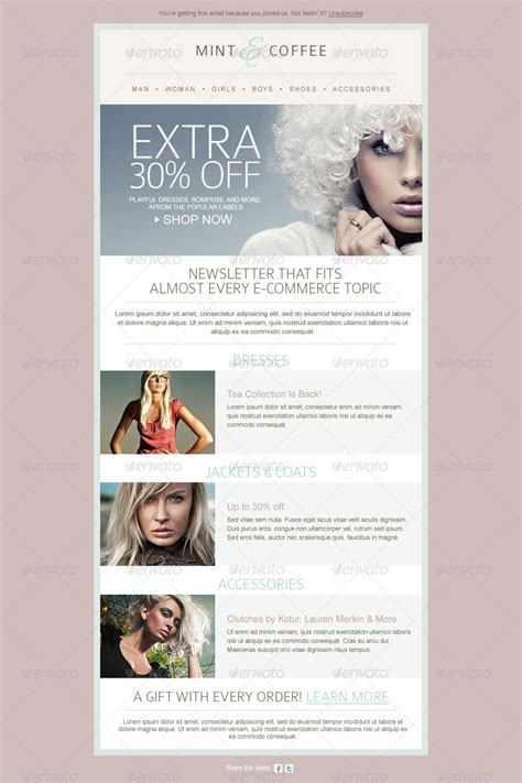 1000 images about fashion email newsletters on newsletter design email design and fashion ecommerce email newsletter template by mariarti graphicriver