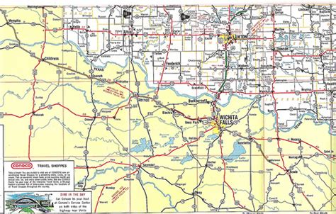map of texas and oklahoma border us 62 across southwest oklahoma 1975 this 1975 map of okl flickr photo