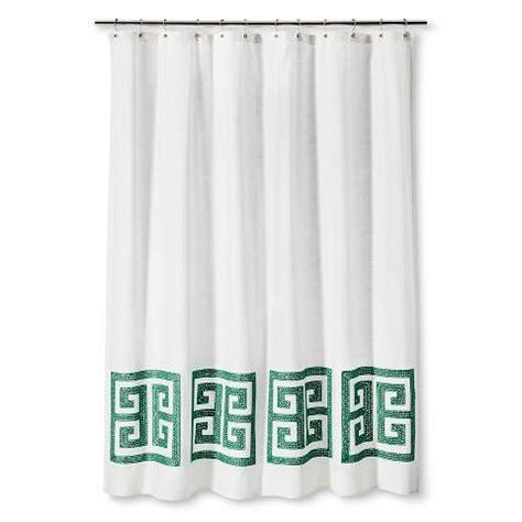 suzanne kasler greek key shower curtain ballard designs
