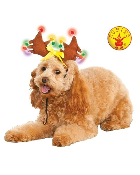 pet costume light up reindeer antlers fancy that