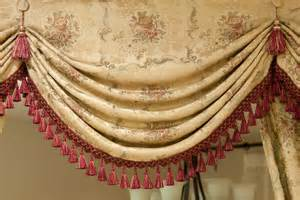 Room Divider Drapes - valances and curtains elegant swags and jabots pelments fancy curtains by c luce