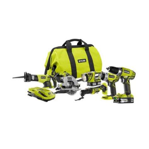 ryobi one 18 volt lithium ion ultimate combo kit 6 tool