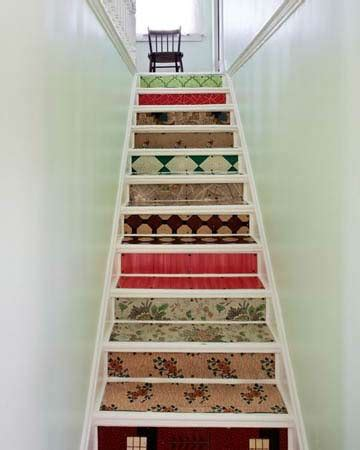 Decoupage Stairs - try your at shabby chic decoupage 21 gorgeous