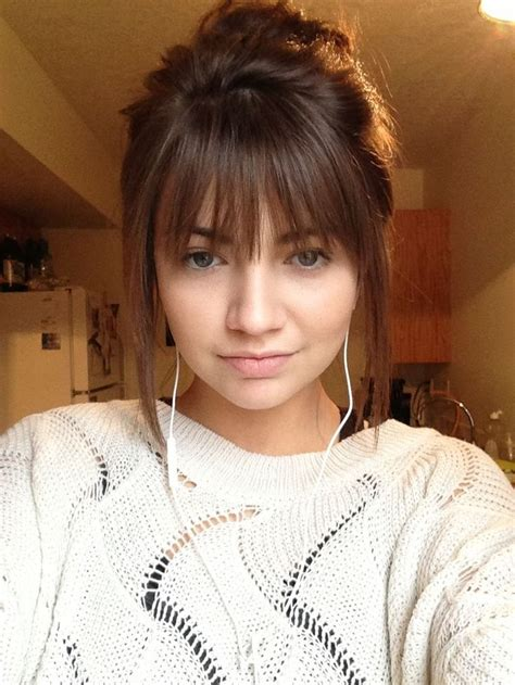 front fringe hairstyles best 25 half moon bangs ideas on pinterest fringes