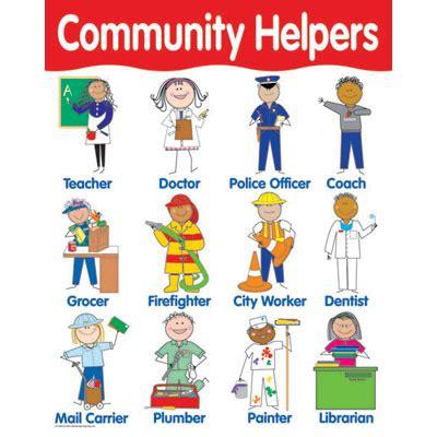 kindergarten activities community helpers toddler basic skills learning board press charts