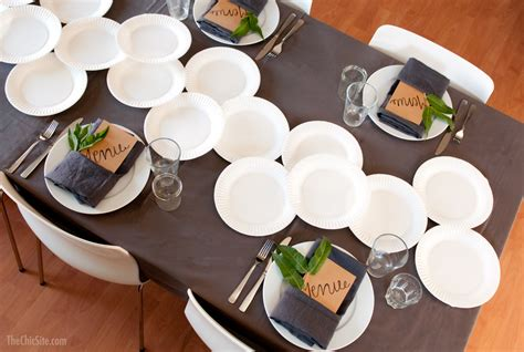 Ideas For Dinner Party Menu - paper table runner the chic site