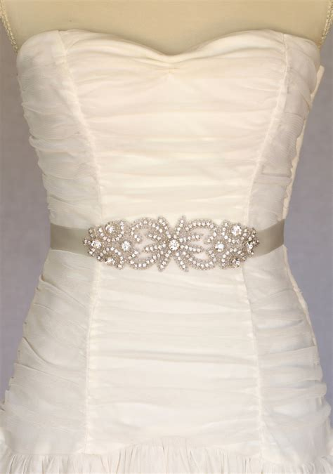 bridal sash bridal belt wedding dress by amienoeldesigns