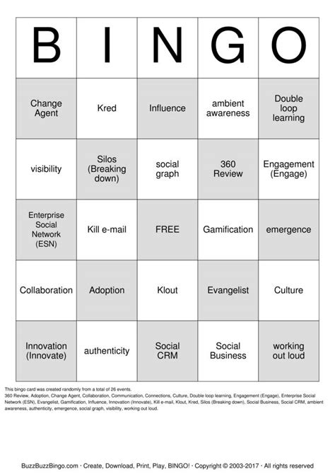 social business buzzword bingo cards to download print