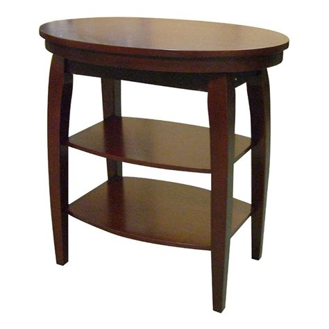 Oval Side Table Shop Ore International Cherry End Table At Lowes