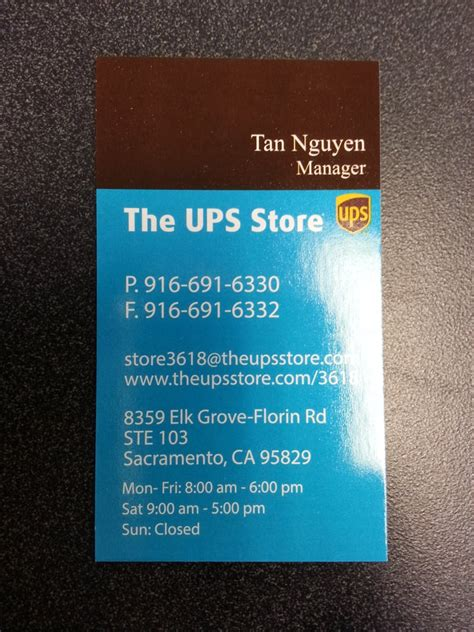 Ups Store Business Cards