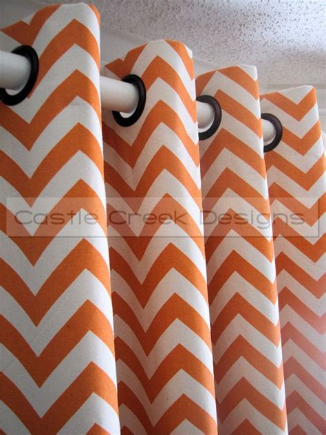 orange chevron curtains orange chevron curtains design curtains orange curtains