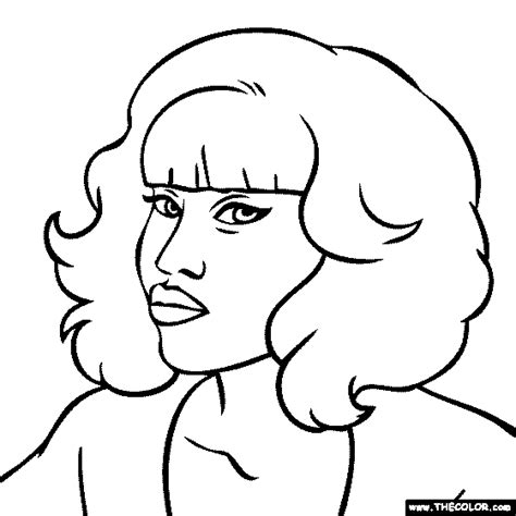 Free Coloring Pages Of Nicki Minaj Drawing Nicki Minaj Coloring Pages