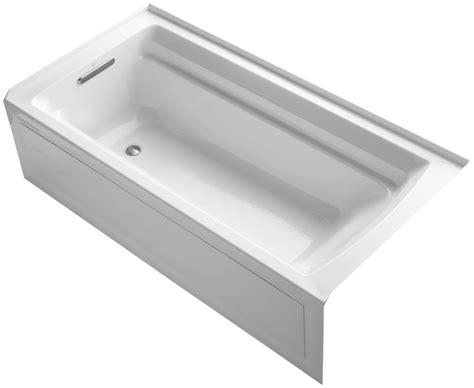 kohler soaker bathtubs kohler k1125la white kohler k1125la archer 72 alcove