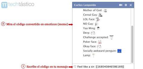 Facebook Chat Meme Faces - c 243 mo usas emoticons de memes en el chat de facebook