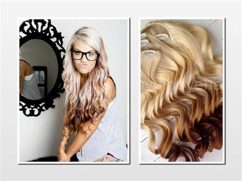 how to dye hair with black chunks items similar to dip dye ombre hair extensions blonde