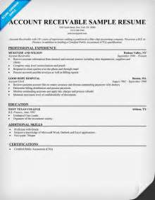 Account Receivable Resume Sample accounts receivable sample resume resume samples and how to write a