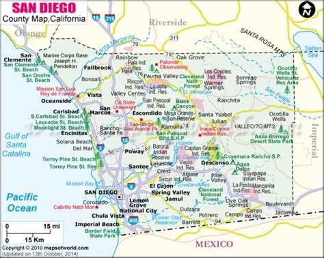 san diego on map of usa san diego county guide including imperial county