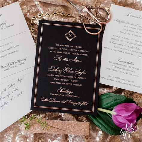 black and gold wedding invitations nz black and gold wedding invitations marina gallery
