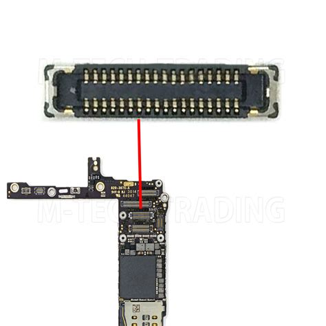 Konektor Connector Socket Touchscreen Iphone 6 6 Plus 55 new iphone 6 plus 5 5 lcd fpc connector for logic