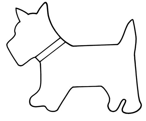 puppy template search results for scottie applique template