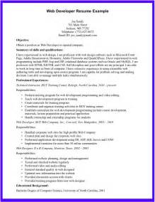 Best Resume Format For Net Developer by Web Development Resume Ilivearticles Info