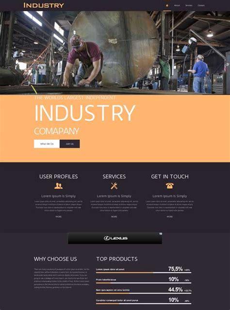 Industrial Template 70 best industrial website templates free premium