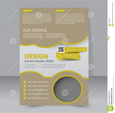 editable magazine template brochure design flyer template editable a4 poster stock