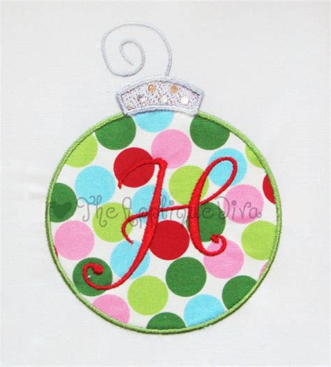 christmas ornament embroidery design machine applique