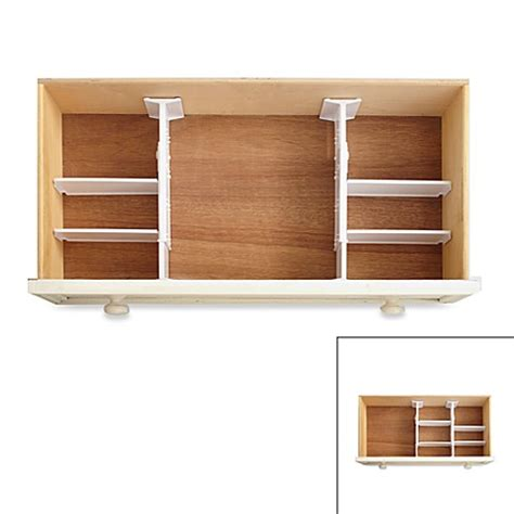 bed bath and beyond drawers real simple 174 6 piece adjustable drawer organizer bed