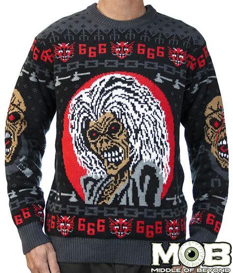 Jaket Sweater Iron iron maiden sweater musica